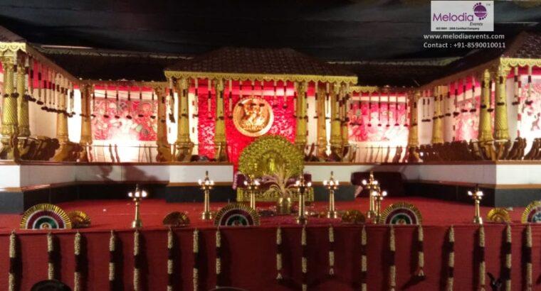 Hindu Wedding Stage Decorations in Thrissur,Kerala
