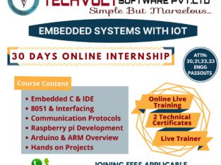Embedded Systems online Internship Training