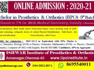 Bachelor Degree in Prosthetics & Orthotics