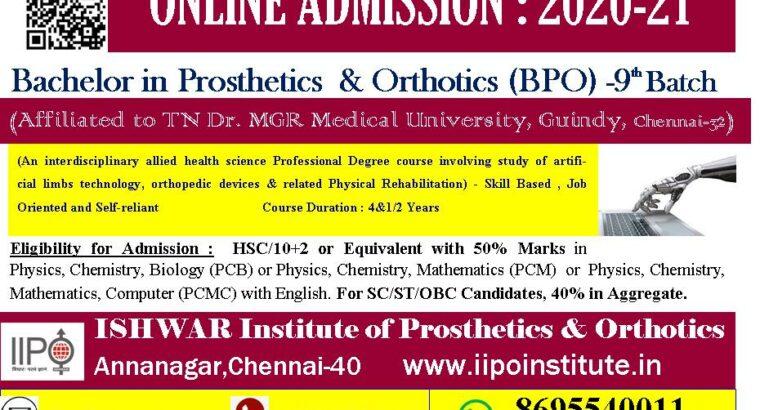 Bachelor Degree in Prosthetics & Orthotics