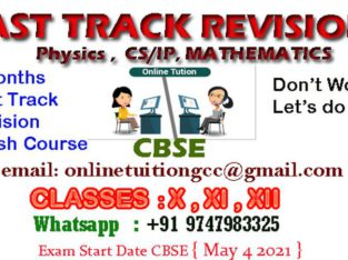 ONLINE TUITION CBSE X.XI.XII FAST TRACK REVISION