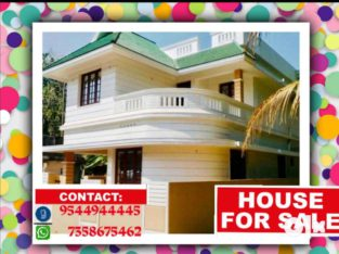 4Bhk ,1400sqft ,4cent house for sale