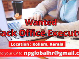 Urgently looking for Data Entry / Back Office