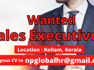 Urgently looking for Sales Executive