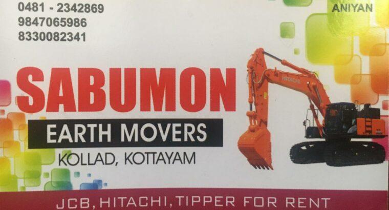 HITACHI FOR RENT IN KOTTAYAM -SABUMON EARTH MOVERS
