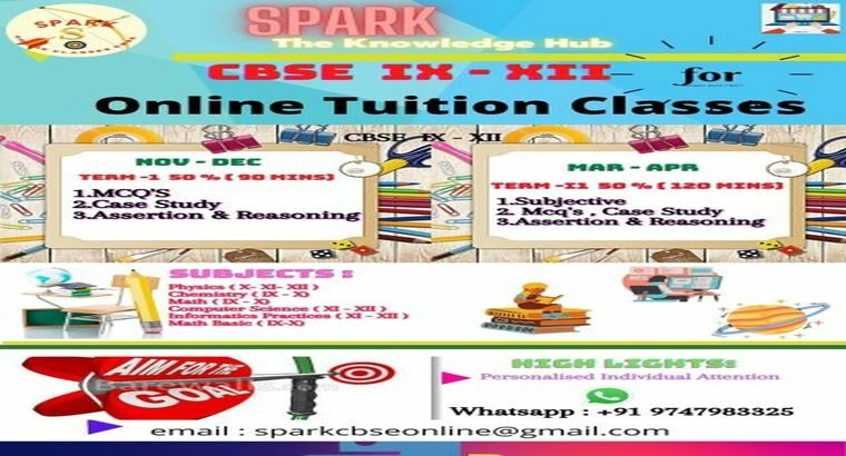 ONLINE TUITION CBSE IX – XII