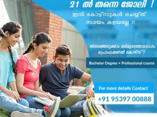 Professional course with a bachelor degree