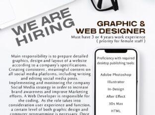 Graphic designer cum web designer