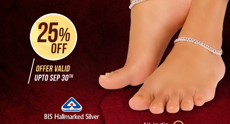 Silver Padasaram | Buy Silver Anklets Online